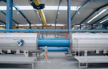 Twin screw extruder twinEx for the extrusion of O-PVC pipes