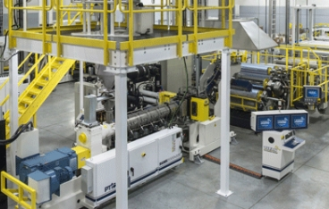 PTi provides sheet extrusion line to Laminex for face shields