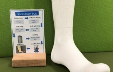 Biobased socks from sustainable polymer