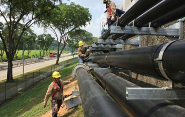 HDPE pipeline saves hundreds of flange connections
