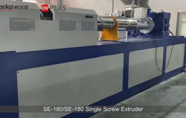 HDPE/LDPE Flakes Recycling Double Stage Single Screw Extruder