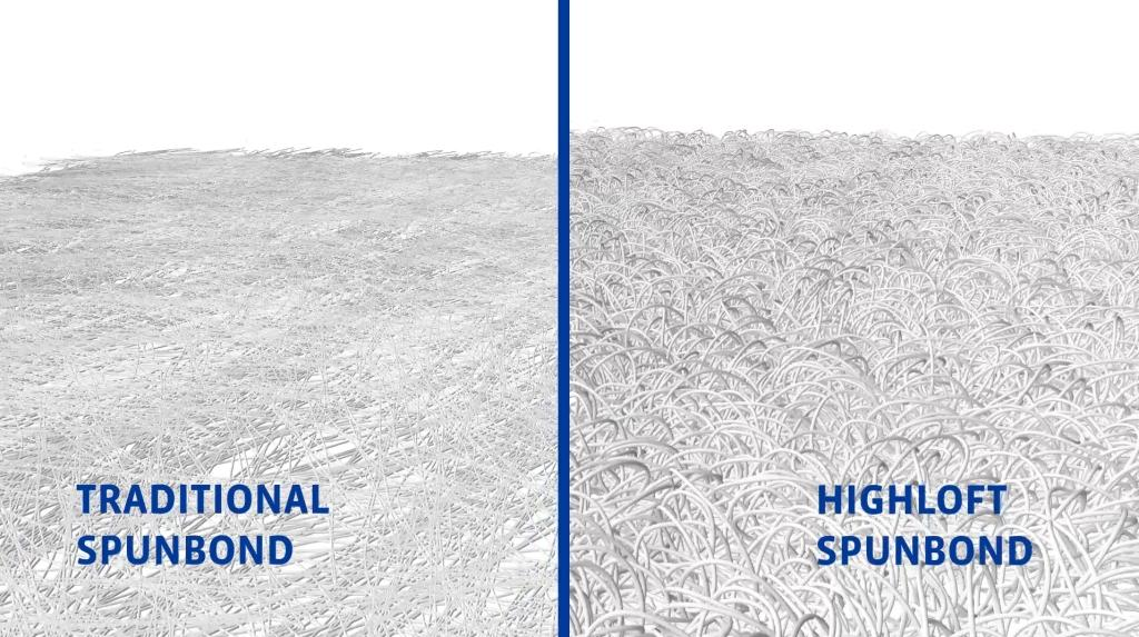 Spunbond HighloftSpunbond Comparison