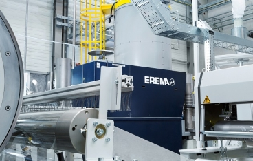 EREMA add-on technology for rPET packaging