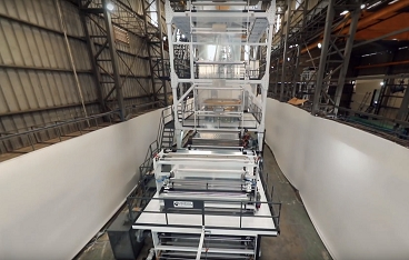 Co-extrusion three layer plant ibc-se3hr-2600-75/75/75
