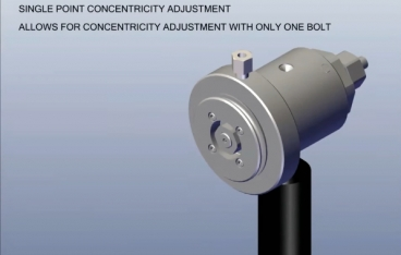 Guill's new crosshead features patented single-point concentricity adjustment