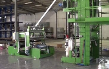 Blown film extrusion line for PVC shrink film